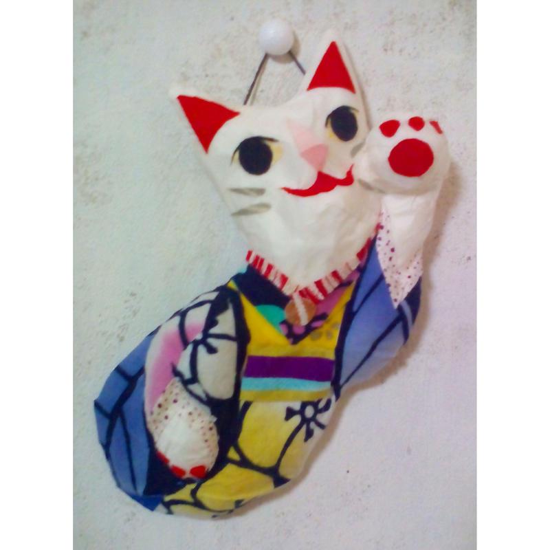招き猫(左手挙げ)壁掛け No.102