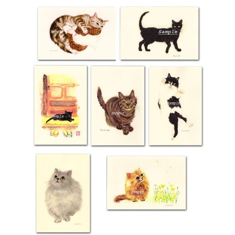 猫ポストカード7枚セット2