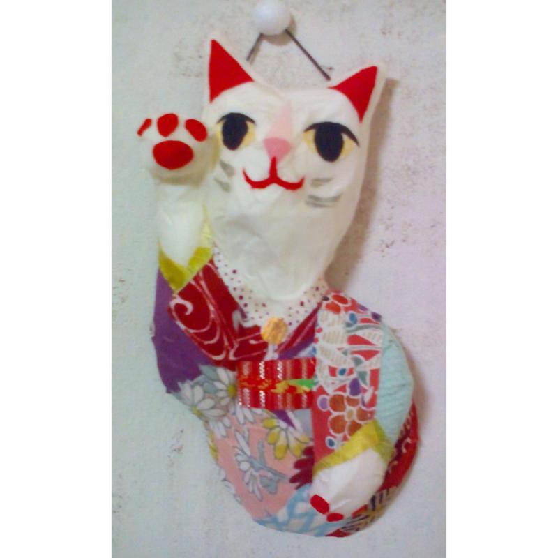 招き猫(右手挙げ)壁掛け No.104