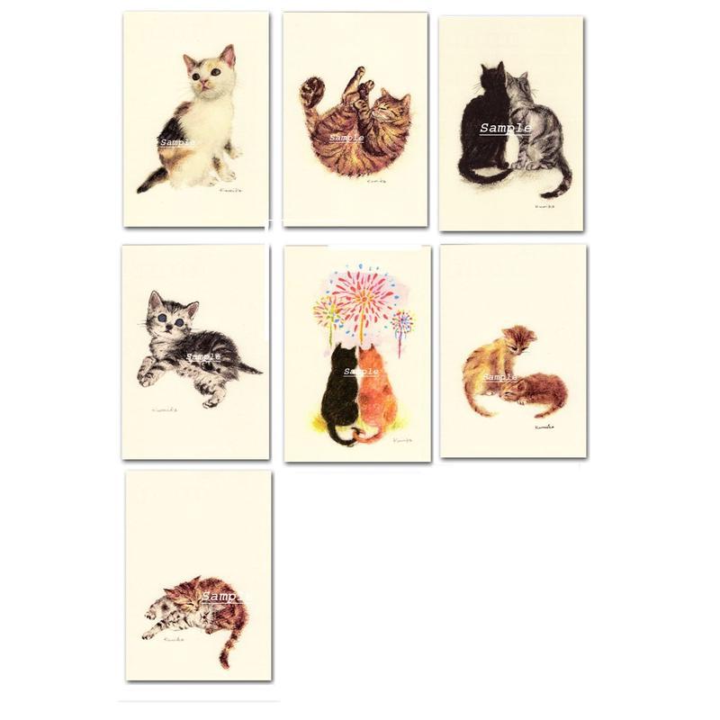 猫ポストカード7枚セット3