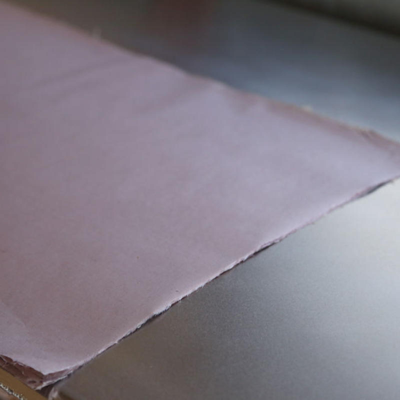 アウトレット品 雁皮紙 草木染 No.13 書道用紙 備中和紙