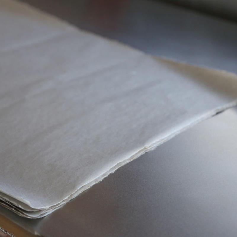 アウトレット品 雁皮紙 草木染 No.4 書道用紙 備中和紙