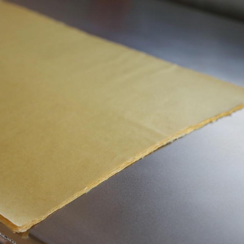 アウトレット品 雁皮紙 草木染 No.9 書道用紙 備中和紙