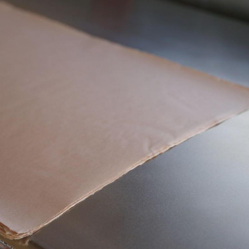 アウトレット品 雁皮紙 草木染 No.2 書道用紙 備中和紙