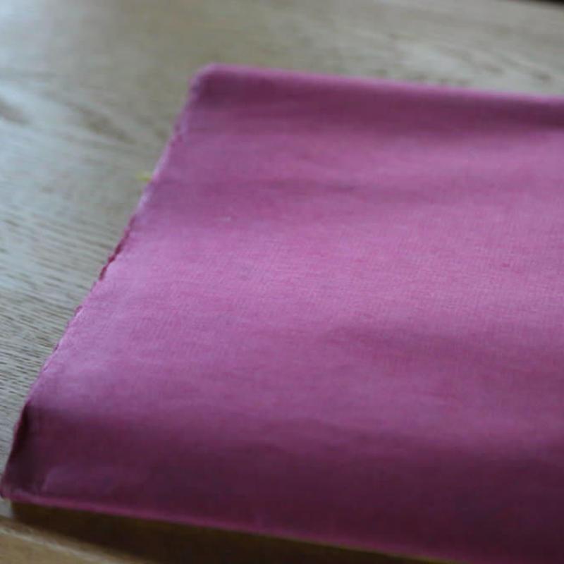 アウトレット品 楮紙 化学染め ピンク色
