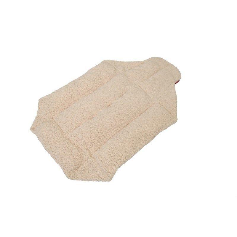 Cocoheart ペットカート用 (キャリーバッグにもOK)クッションベット・リバーシブル 安心の日本縫製 (ペットカート用, アイボリー×アイボリー)