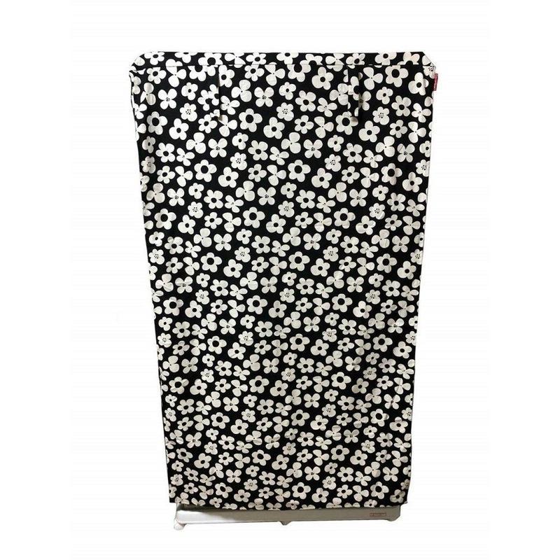 Cocoheart ケージカバー日本製(縫製・帆布/綿100%)(横幅95cmX奥行き70cmX高さ160cm) (3段ケージ用 Bタイプ, フラワーブラック)