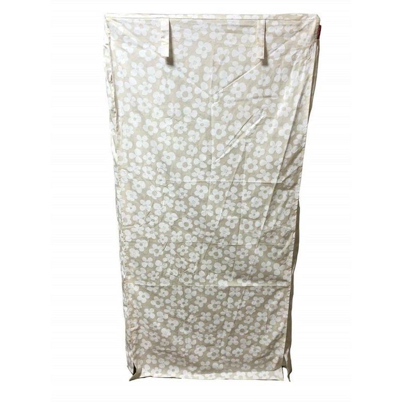 Cocoheart ケージカバー日本製(縫製・帆布/綿100%)(横幅95cmX奥行き70cmX高さ160cm) (3段ケージ用 Bタイプ, フラワーベージュ)