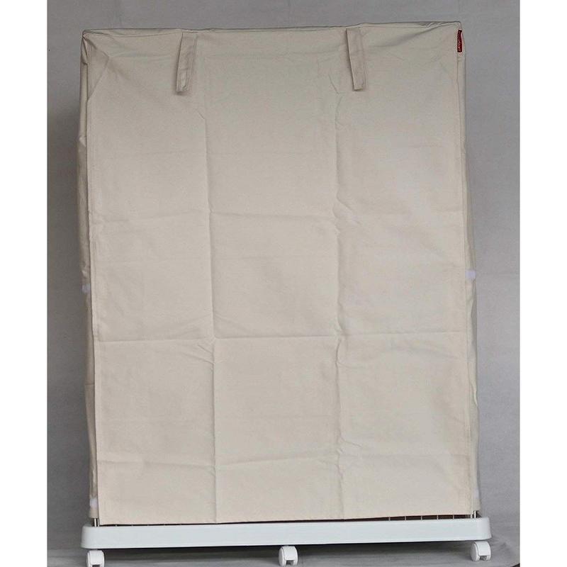 Cocoheart ケージカバー日本製(縫製・帆布/綿100%)(横幅95cmX奥行き70cmX高さ110cm) 2段ケージ用 Bタイプ, オフホワイト