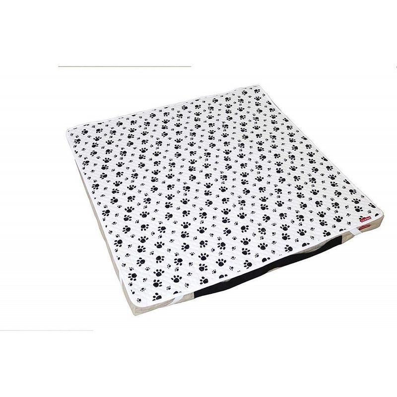 Cocoheart ペット用介護マット(オールジャパン・日本製)3種類のクッション素材で体圧分散 床ずれ予防 (100cm×100cm, ホワイト)
