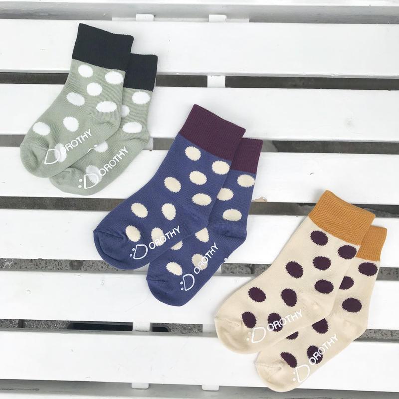 DOROTHY ツートーンDOT socks
