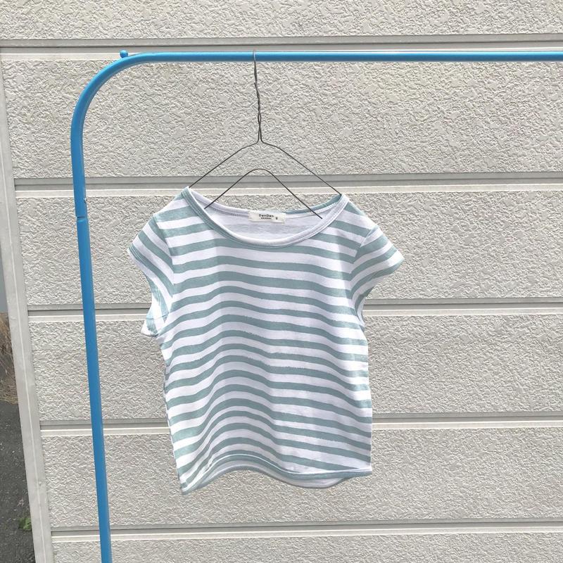 ミントブルーボーダーTシャツ