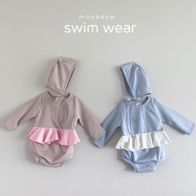 coloring frill swimwear(帽子セット)