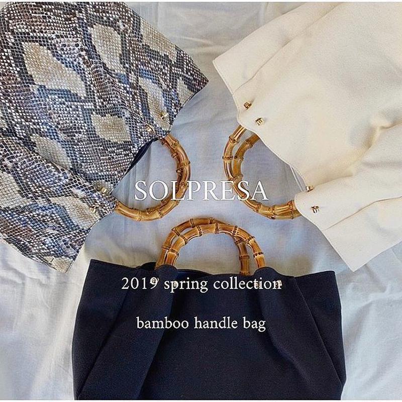 【再入荷】bamboo handle bag