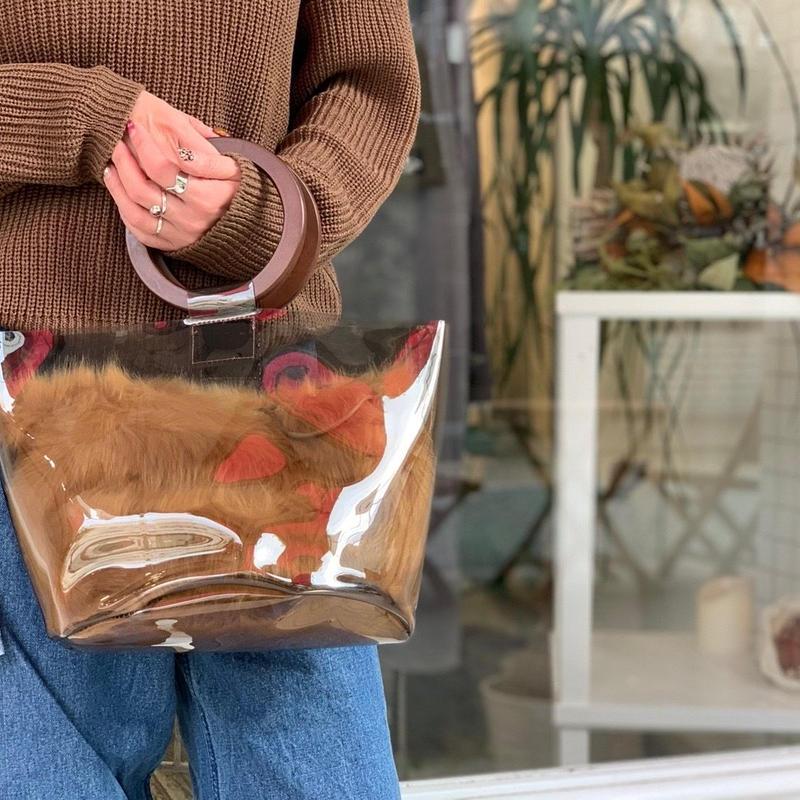 【数量限定❗️】PVCファー巾着バッグ