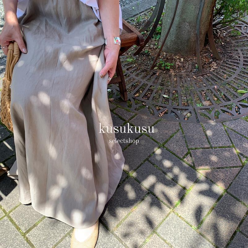 【再入荷】リネンマキシスカート