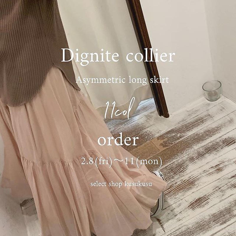 【御予約】Asymmetric long skirt