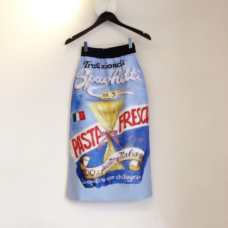 ビンテージ風イタリアプリントロングスカート