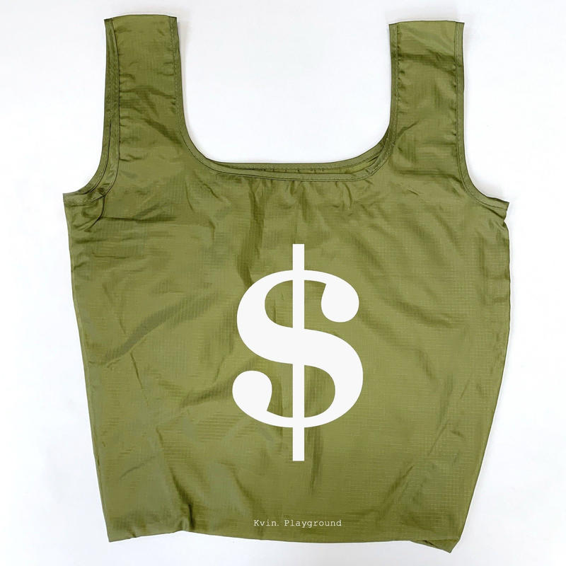 "Kvin. Playground ‎– ""Dollar"" Bag (MOSS / BLACK)"