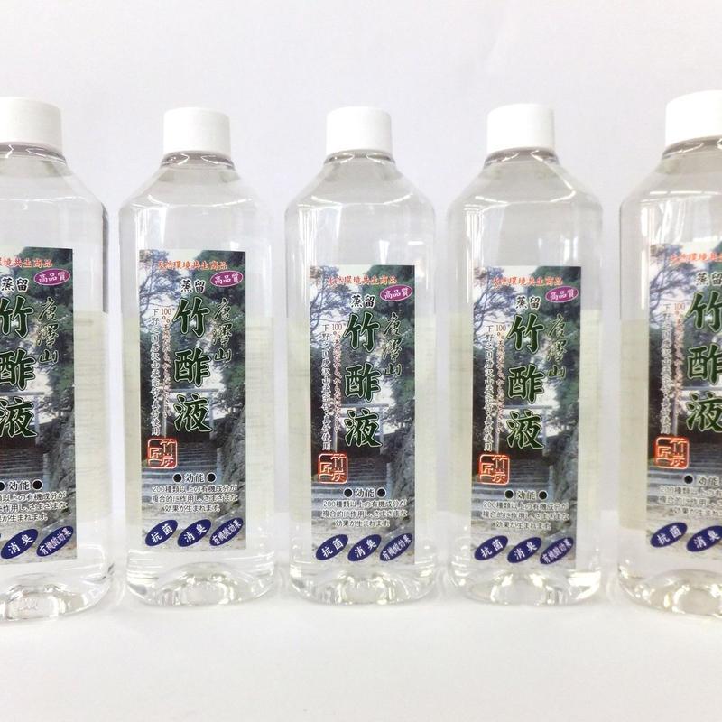 竹酢液 蒸留タイプ 500ml  ×  5本セット