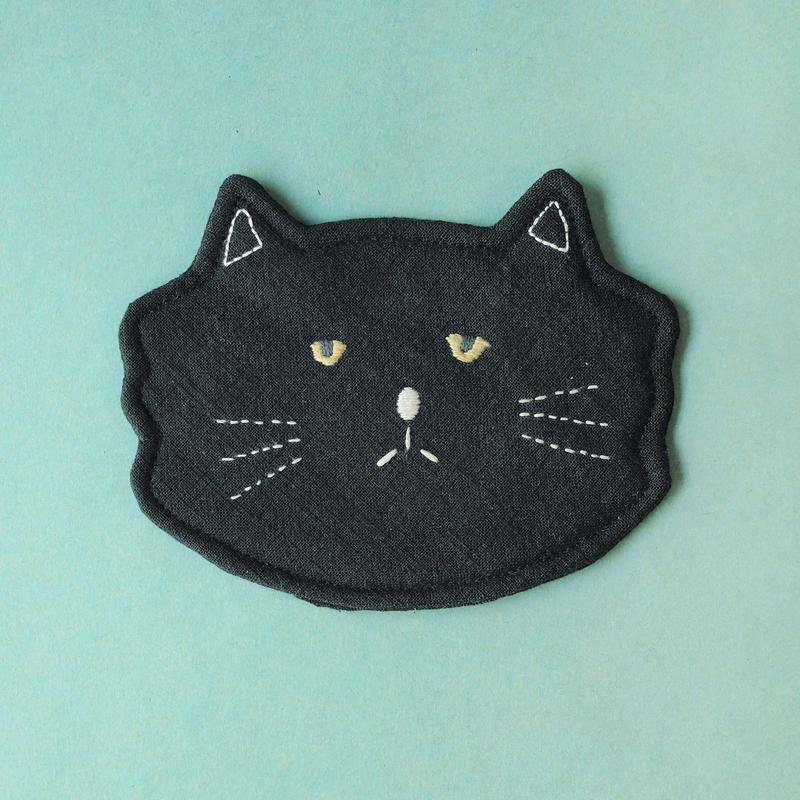 黒猫コースター