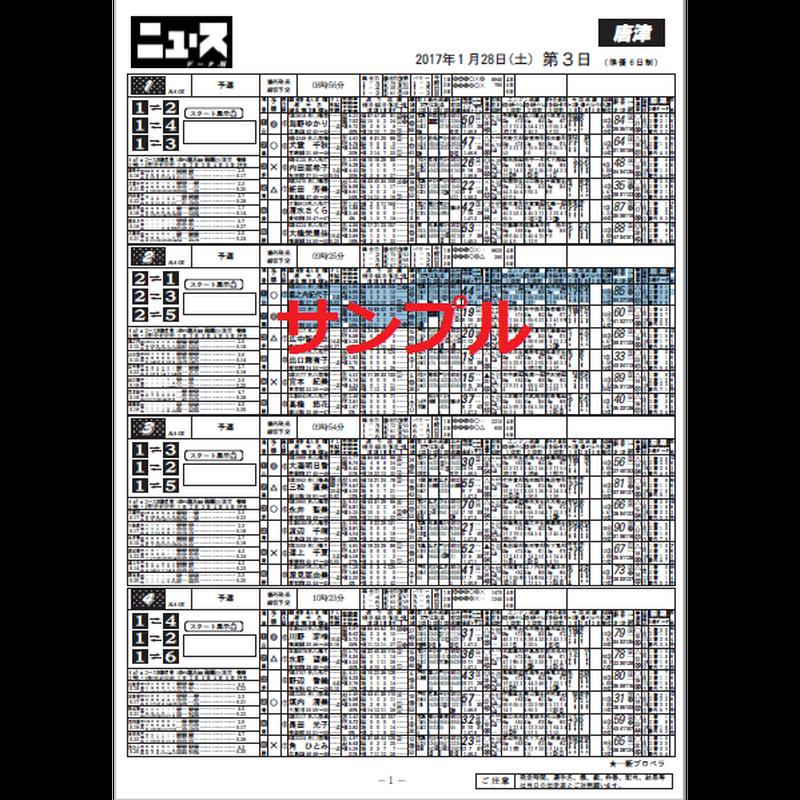 競艇専門紙ニュースデータ版 サンプル