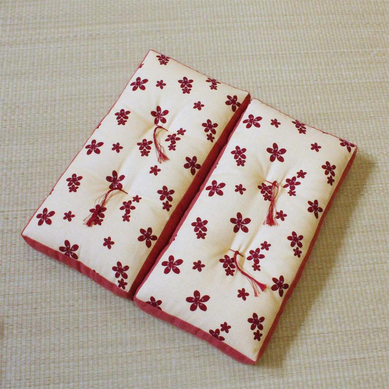 折れ座布(桜ちらし)