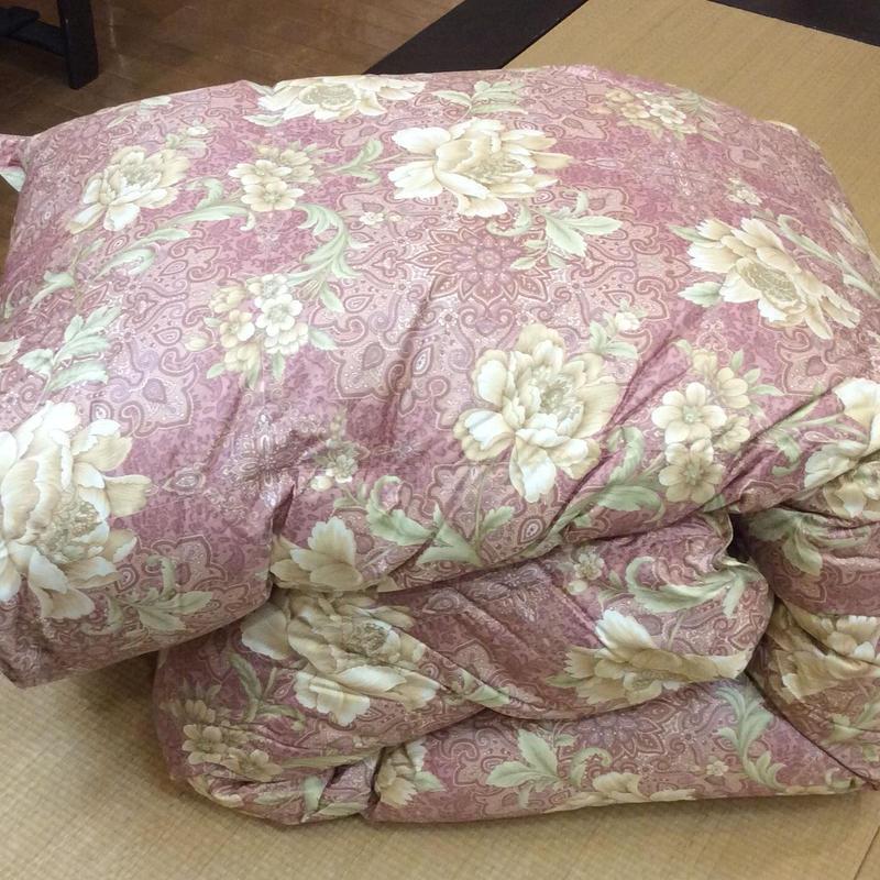 西川リビング  羽毛布団:シングルサイズ  ピンク/ブルー