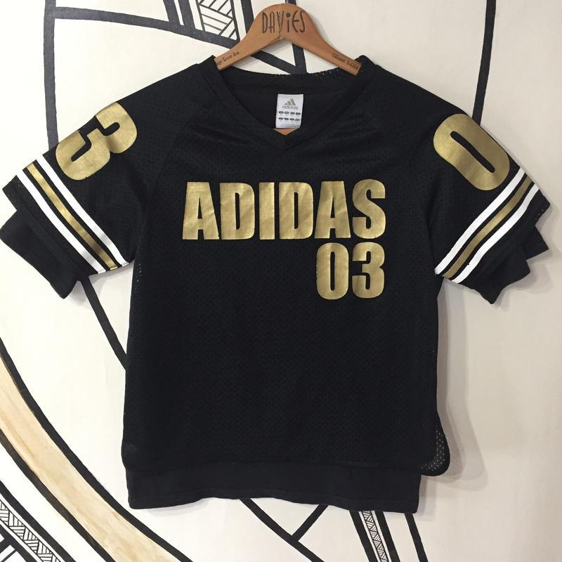 【ストリート】アディダス ブラック 重ね着デザイン メッシュ Tシャツ