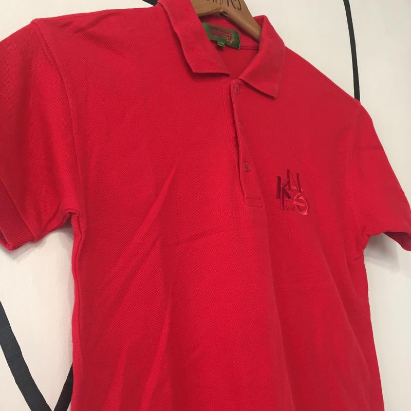 【派手】KENZO レッド 日本製 ポロシャツ