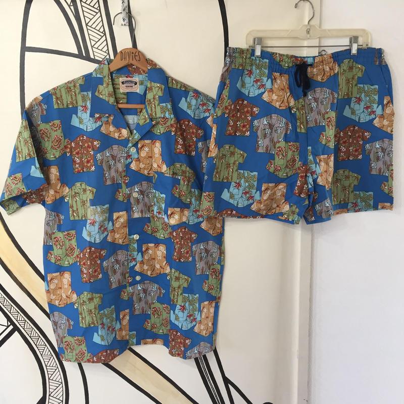【ド派手】アロハシャツ 総柄 柄シャツ&ハーフパンツ セットアップ