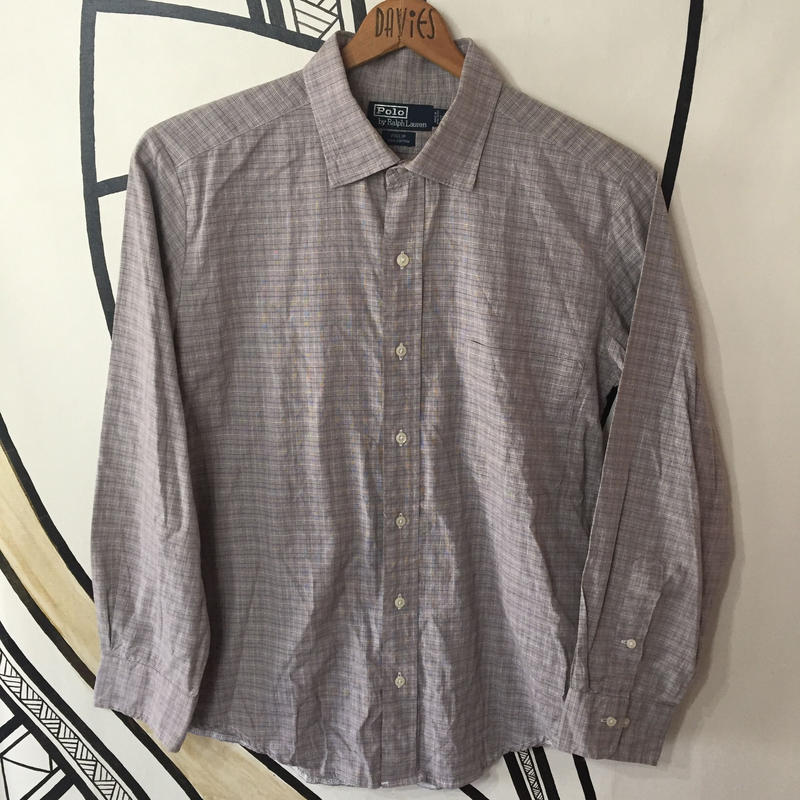 【SALE】ラルフローレン ブラウン チェックシャツ