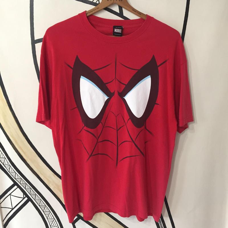 【海外古着】XL スパイダーマン デカプリント ビッグTシャツ