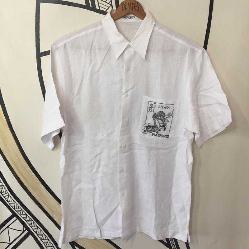 【希少】YOSEMITE SAM ルーニーテューンズ  刺繍 日本製 リネンシャツ