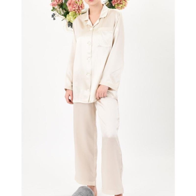 正絹シルク100%パジャマ シルクサテン(la sakura)3083