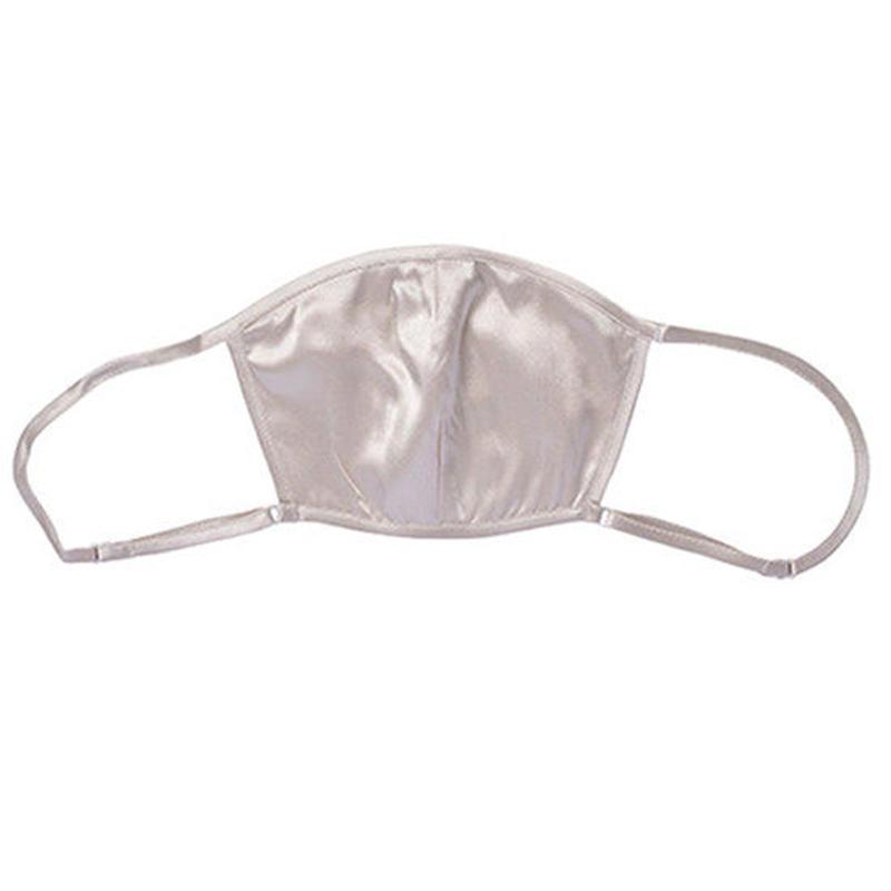 正絹シルク100%マスク ポケット付  シルクサテン(la sakura) 3090