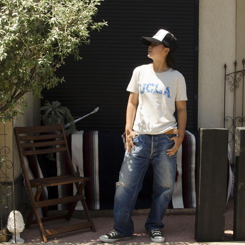 UCLA-0392 UCLA VINTAGEヘザーTシャツ パームツリー