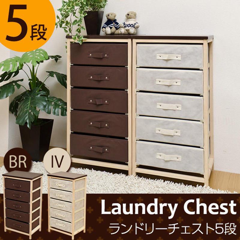 家具 収納 ラック ランドリーチェスト 5段◆pa005
