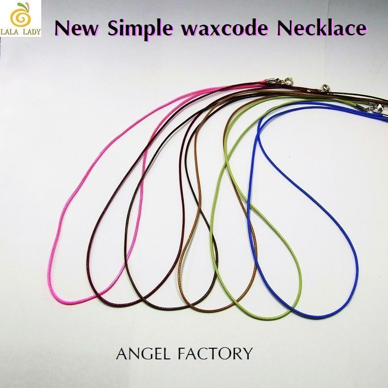 ネックレス Simple WAXコード 1mm幅 6カラー ANGEL FACTORY◆lalalady-31