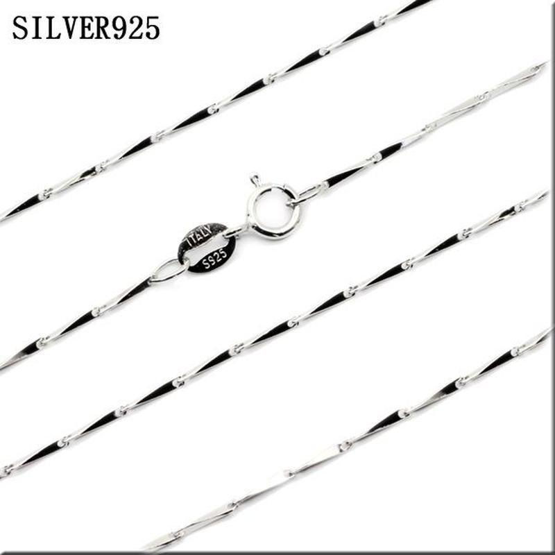 SILVER925 ネックレス◆太さ1mm 長さ40/45cm ウェッジチェーンチェーンスターリングシルバー925◆C-981