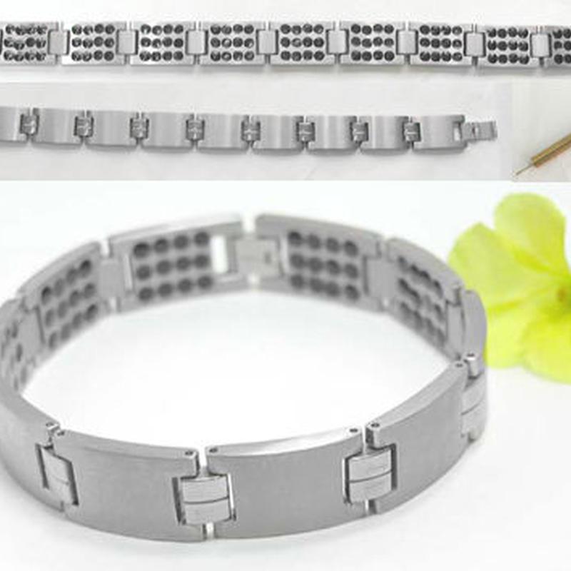 美容 健康 ブレスレット◆チタン製 ゲルマニウム120個◆K8148