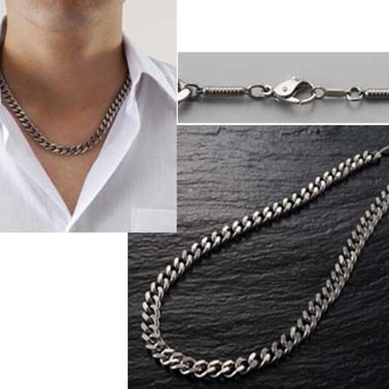 ネックレス 純チタン製 極太喜平 磁気ネックレス◆K11485