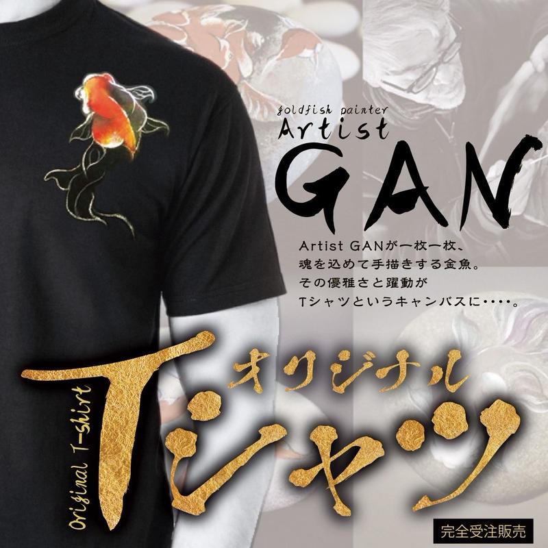 ARTISTGAN 手書きオリジナル金魚Tシャツ