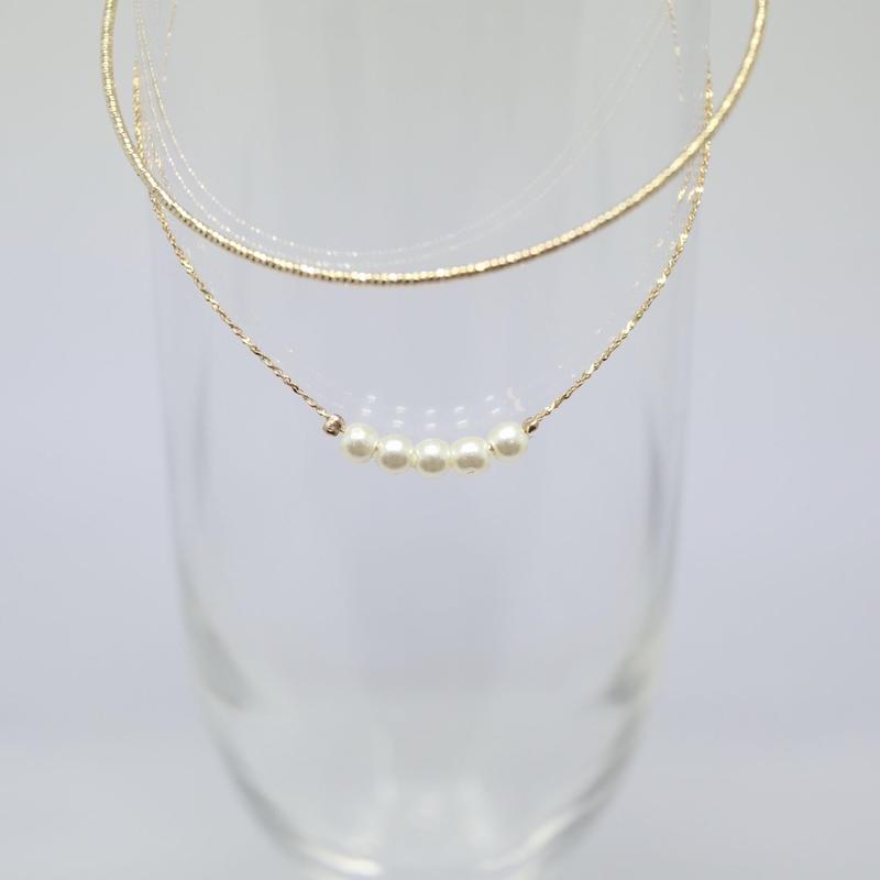 Pearl chain bracelet