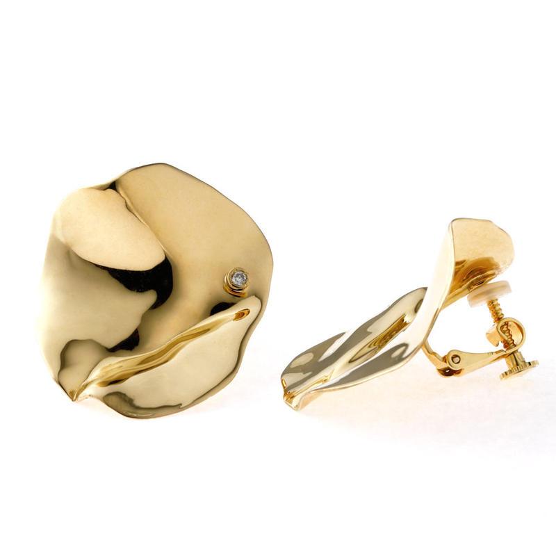 Flap (L) イヤリング Gold