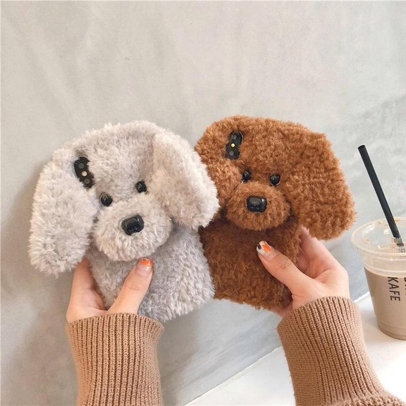 【LAMODA】超絶可愛い♪ スマホカバー 携帯ケース トイプードル ぬいぐるみ instagram 犬 猫 小型犬