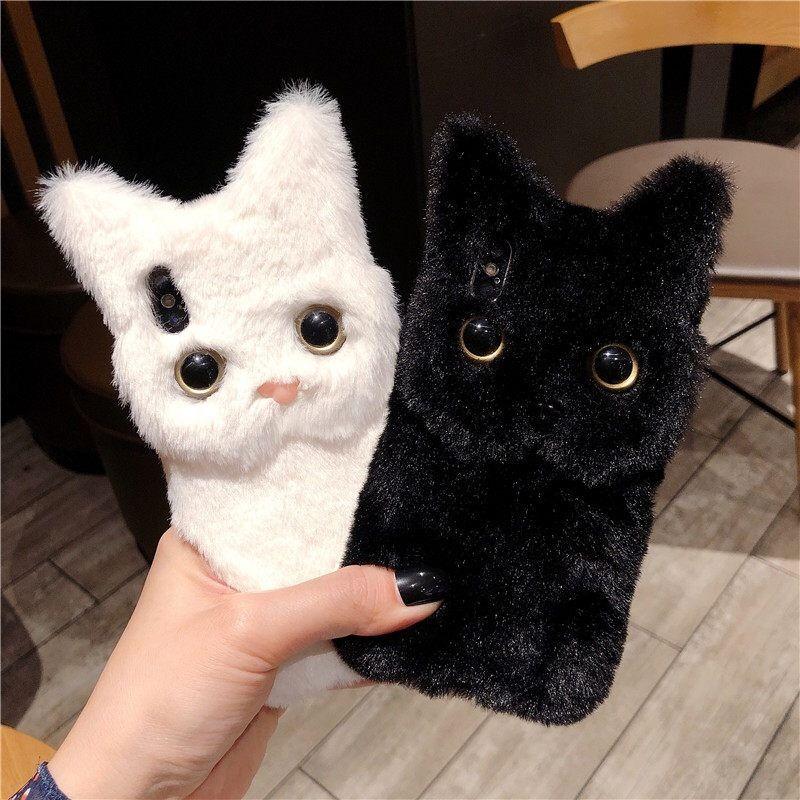 【LAMODA】instagram 可愛すぎる 携帯カバー ぬいぐるみ スマホケース 猫 ネコ 猫ブーム