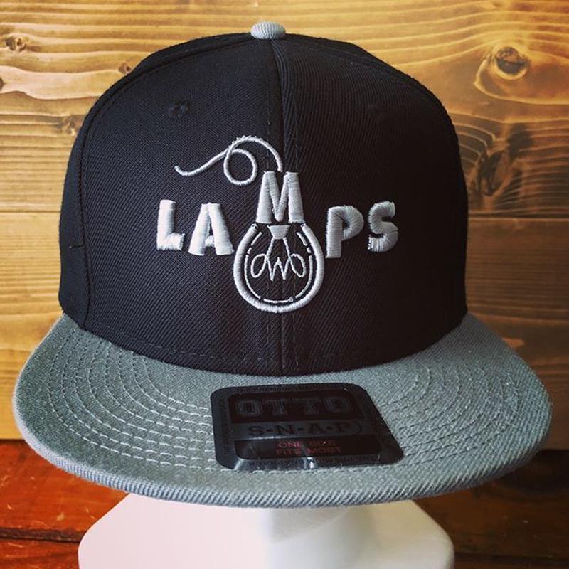 LAMPS スナップバック ブラック×グレー