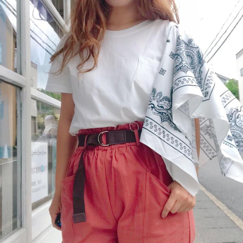 ペイズリースカーフTシャツ