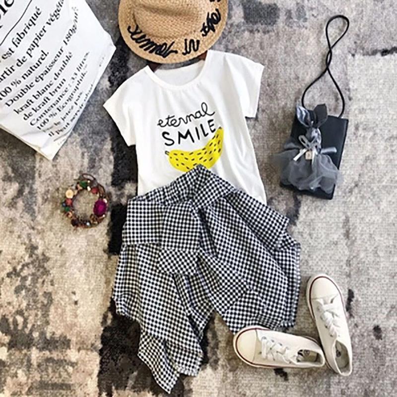 SMILE BANANA Tシャツ&ギンガムチェックスカートセット♡